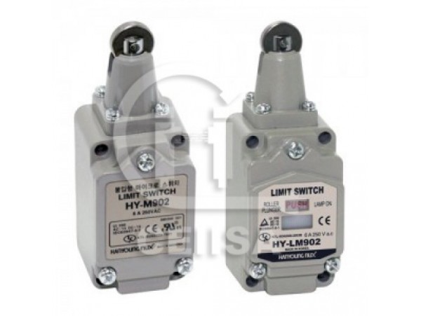 HYM902 - Hanyoung - Limit Switch con Embolo de Rodillo 1NA+1NC