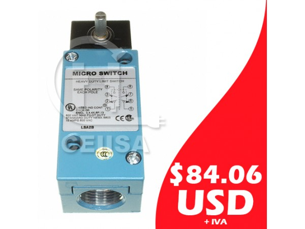 LSA2B - Honeywell - Limit Switch para Trabajo Pesado